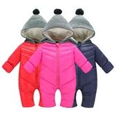 秋冬兒童連身棉衣男嬰女嬰幼兒爬爬羽絨棉服寶寶連身哈衣 - 雙十二交換禮物