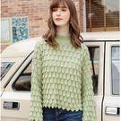 寬鬆百搭立體剪裁豆沙綠針織毛衣[79132-KF]美之札