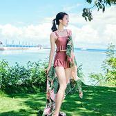 分體泳衣女保守裙韓國溫泉小香風學生小胸聚攏顯瘦遮肚性感游泳裝