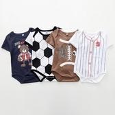 足球短袖包屁衣 世足賽嬰兒兔裝 寶寶童裝 (XE10424 ) 好娃娃