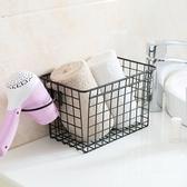 免打孔廚房置物架浴室用品收納籃掛架吹風機架門後掛籃櫥柜收納架 夢幻衣都