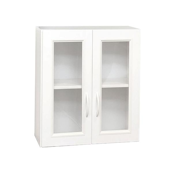 【采桔家居】泰格 環保2.1尺塑鋼二門浴室吊櫃/收納吊櫃(三色可選)