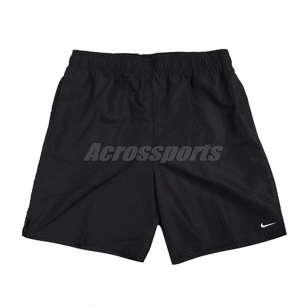 Nike 短褲 Essential Lap 黑 白 男款 膝上 帶襯海灘褲 運動休閒 【ACS】 NESSA559-001