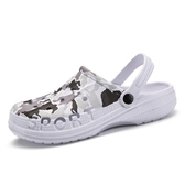 夏季洞洞鞋男士韓版個性時尚拖鞋防滑外穿涼拖休閒沙灘鞋包頭涼鞋