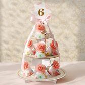 春季上新 蛋糕塔結婚包裝喜糖盒子創意喜糖袋婚慶用品婚禮糖盒歐式喜糖盒