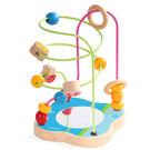 木製玩具 木製小巧花朵串珠玩具...