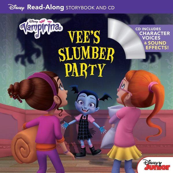 【麥克書店】VAMPIRINA : VEE'S SLUMBER PARTY/READ-ALONG /英文繪本附CD‧聽迪士尼說故事