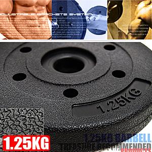 1.25KG水泥槓片(單片1.25公斤槓片.槓鈴片.啞鈴片.舉重量訓練.健身用品推薦哪裡買專賣店