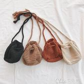 男女童針織抽繩錢包寶寶兒童配飾嬰兒寶寶 七色堇
