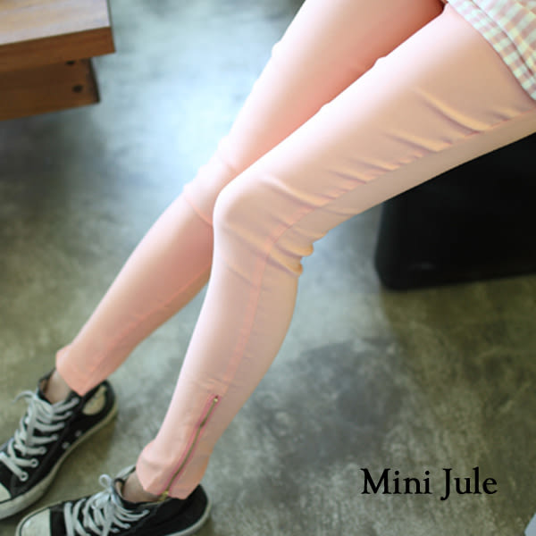 ★現貨★彈性褲頭拉鍊褲管內搭褲 小豬兒 Mini Jule【AAJ31000007】