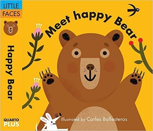 【表情遊戲書】MEET HAPPY BEAR /硬頁新奇書 (主題:動物.情緒)