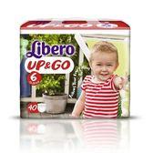 麗貝樂 Libero 褲型紙尿褲(拉拉褲)(敢動褲)XL 6號-40片x6包(尿布)[衛立兒生活館]