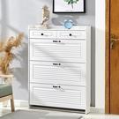 鞋柜家用門口多功能簡約現代17cm入戶玄關收納柜白色