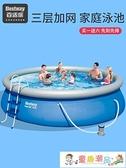 充氣泳池 百適樂游泳池家用大人兒童加厚家庭小孩成人戶外戲水池 童趣