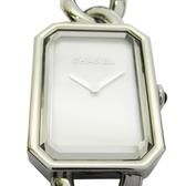 CHANEL 香奈兒 銀色Premiere 珍珠貝面石英鍊帶款手錶 H3251 【二手名牌 BRAND OFF】