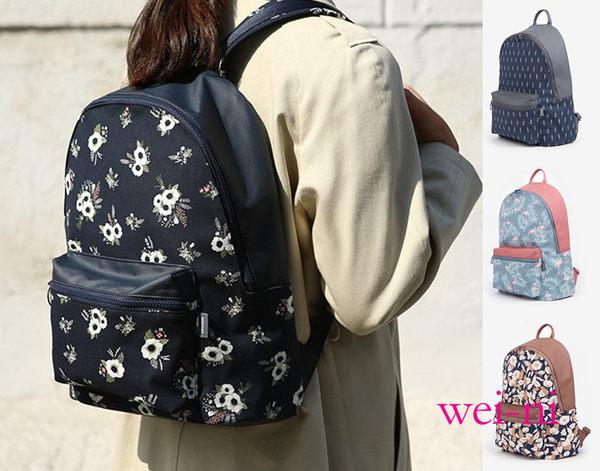 wei-ni 復古雙肩背包 旅行購物袋 輕巧收納大容量萬用包 旅行包 後背包 雙肩包
