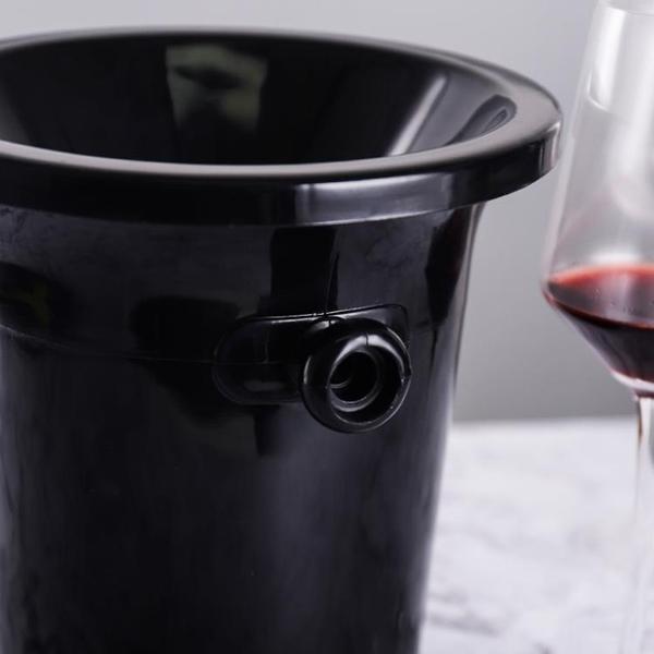塑料吐酒桶 紅酒桶 香檳桶 盲品桶冰桶冰粒黑色 酒會小專業酒桶黑 安雅家居館
