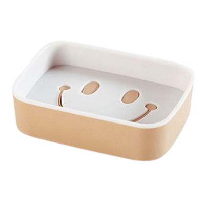 平放 無痕 收納盒 瀝水架 置物架 菜瓜布架 掛架 收納 香皂架免釘 双色笑臉肥皂架 【L199】MY COLOR