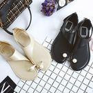 2017 春夏季 韓劇裡常見的新款夾腳珍珠平底涼鞋 《B&F》042524