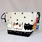 貓三兄弟 鋁箔 保溫保冷 餐袋 便當袋 束口袋 飲料保溫冷袋 日本販售正版
