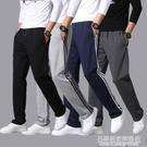 春夏季運動褲男寬松直筒褲休閒長褲子大碼薄款籃球跑步針織棉衛褲 名購新品