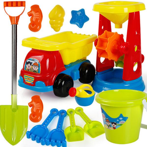 兒童節禮物兒童沙灘玩具套裝玩沙挖沙工具沙漏鏟子男女寶寶決明子玩具沙建雄