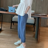 漂亮小媽咪 孕婦燈籠褲【P8437】 高腰 托腹褲 束口褲 縮口褲 九分褲 孕婦裝 孕婦長褲