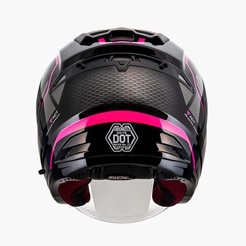 【東門城】SOL SO-7E 幻影(黑粉) 半罩式安全帽 雙鏡片