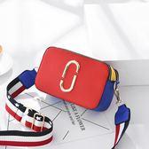 現貨  韓國風撞色拼接側背斜背包包 B52789 舊情綿綿 女包包  交換禮物