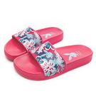PLAYBOY 花卉秘境 寬帶印刷休閒拖鞋-桃(YT602)