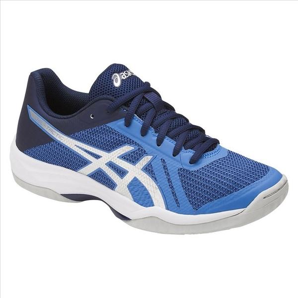 樂買網 ASICS 18SS 進階款 女排球鞋 TACTIC系列 B752N-4093 淺藍x深藍 贈防撞護膝
