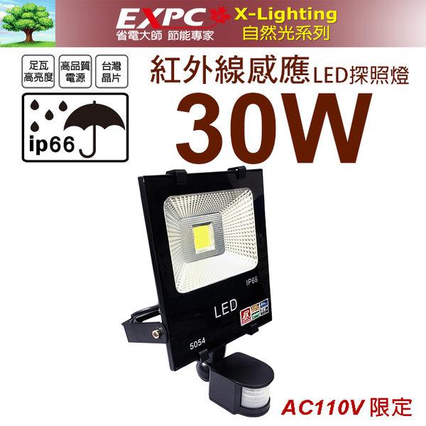 紅外線 30W LED 感應 探照燈 投射燈 投光燈 防水型 X-LIGHTING