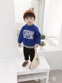 棉小班兒童假兩件衛衣男1-3歲2018冬裝新款韓版潮男童字母套頭衫  嬌糖小屋