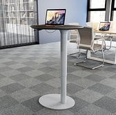 講台 演講台發言台簡約現代教室培訓會議講台桌站立式辦公桌升降QM 向日葵
