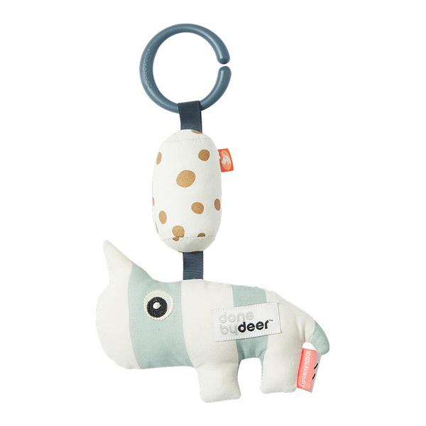 丹麥 DONE BY DEER 安撫鈴聲玩具 犀牛