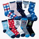 【韓風童品】(10雙/組)男童網眼透氣襪子 兒童百搭休閑襪  中童薄襪子 男童棉襪子