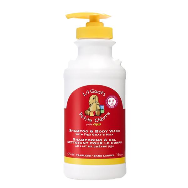 加拿大 CANUS 肯拿士Li'l 新鮮山羊奶初乳嬰兒沐浴洗髮乳475ml