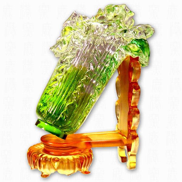 鹿港窯~ 琉璃擺飾【翠玉白菜】附精美包裝◆附古法製作珍藏保證卡◆免運費送到家