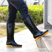 雨鞋高筒女防滑雨靴水靴防水鞋耐磨牛筋底水鞋男保暖套鞋勞保膠鞋 陽光好物