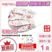 (雙鋼印) 摩戴舒 MOTEX 兒童醫用平面口罩(彩虹小馬) 30入/盒 (台灣製造 CNS14774) 專品藥局【2016962】