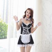(萬聖節)性感蕾絲女傭制服女仆裝短裙情趣內衣真人女用文胸套裝清純學生妹