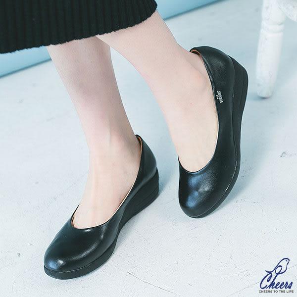 包鞋。Cheers*簡約舒適好穿楔型優雅包鞋【Y181】