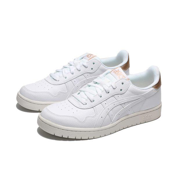 ASICS TIGER JAPAN S 全白 後跟金 休閒 板鞋 女(布魯克林) 1192A125100