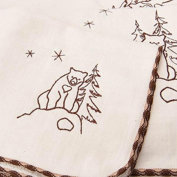 【南紡購物中心】[森之棉]  台灣黑熊-原棉兩用紗羅方巾(2入)