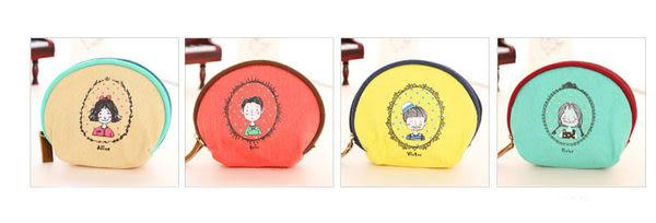 零錢包【JS精心苑】小清新童年帆布零錢包 可愛零錢包/配件/硬幣包/鑰匙包/卡包