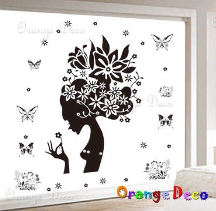 壁貼【橘果設計】花仙子 DIY組合壁貼/牆貼/壁紙/客廳臥室浴室幼稚園室內設計裝潢