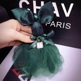 韓國東大門可愛蕾絲裙兔子掛件時尚汽車鑰匙扣掛件女士包包掛飾潮