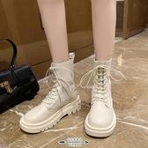 馬丁靴 厚底女英倫風春秋單靴新款網紅瘦瘦襪子靴夏季透氣短靴 - 古梵希