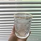 洋酒杯 威士忌琉璃酒杯ins風北歐水晶洋酒啤酒玻璃杯金邊復古家用創意 洛小仙女鞋
