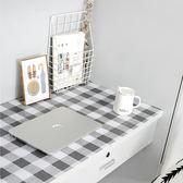留白宿舍ins北歐風裝飾墻紙自粘防水桌貼簡約格子仿布桌面貼紙 LX  宜室家居